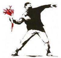 Banksy-Red-Flowers-1