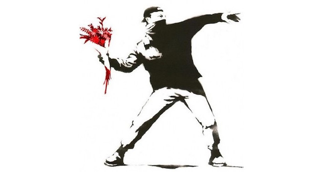 Banksy-Red-Flowers-1